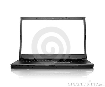 Modern widescreen laptop