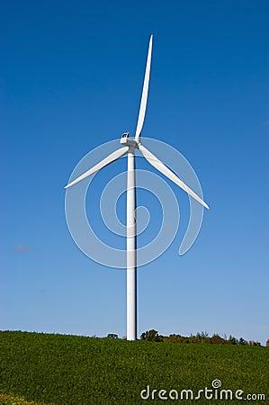 Modern Windmill Turbine Wind Power Green Energy Stock