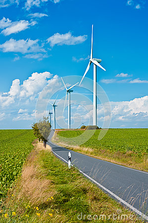 Free Modern Windmills Stock Photos - 27908843