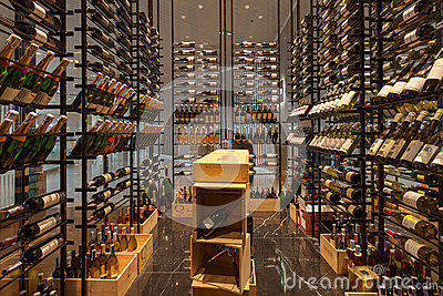Bangkok, Thailand - 2015, July 11: Modern Wine Shop at Bangkok ...