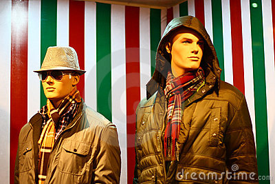 Modern Winter Clothing on Male Mannequins