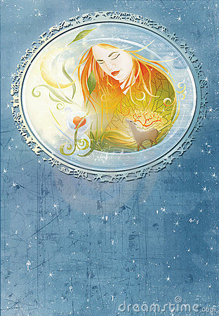 Modern witch book cover illustration