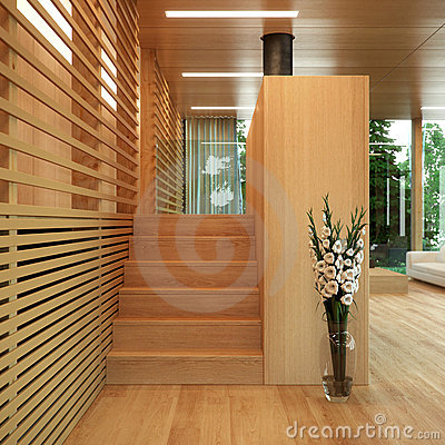 Free Modern Wood Panelled Home Stock Photos - 6909543