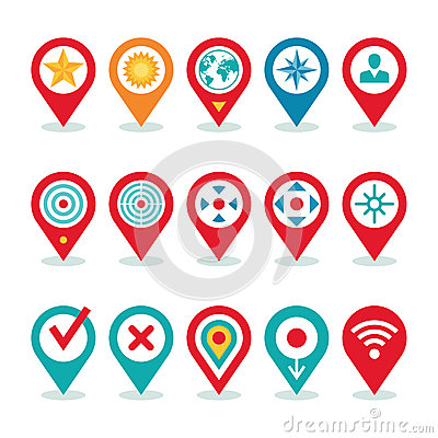 Free Modern World Application - Location Icons Collection - Navigation Symbols Royalty Free Stock Photo - 41951105
