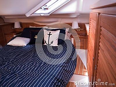 Modern yacht interior