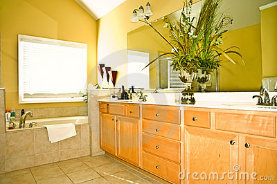 Modern Yellow Bathroom