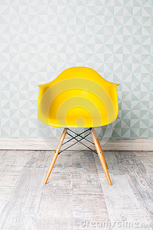 Free Modern Yellow Chair Stock Image - 62939151
