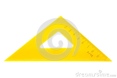 Modern yellow triangle