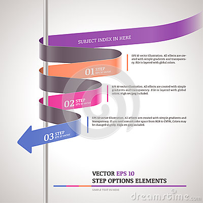 Free Modern Zigzag Infographic, Steps Paper Strip Template Royalty Free Stock Photo - 31385275