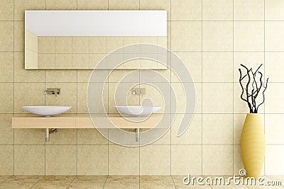 Moderne badkamers met beige tegels op muur royalty vrije stock foto afbeelding 15950245 - Badkamer beige en bruin ...