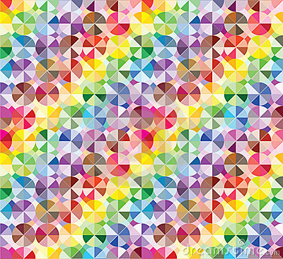 Moderne bunte Elemente am abstrakten Muster