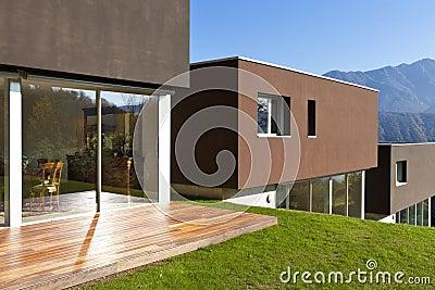 Moderne huizen royalty vrije stock afbeelding afbeelding 24724816 for Afbeelding van moderne huizen