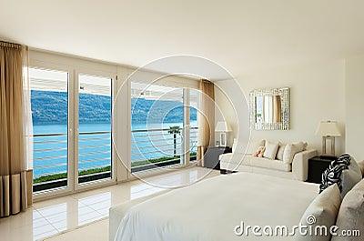 Moderne Innenarchitektur, Schlafzimmer Stockfoto - Bild: 45907420