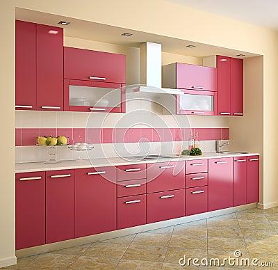 Keuken in blauw stock illustratie   afbeelding: 45506662