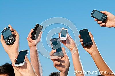 Moderne mobiele telefoons