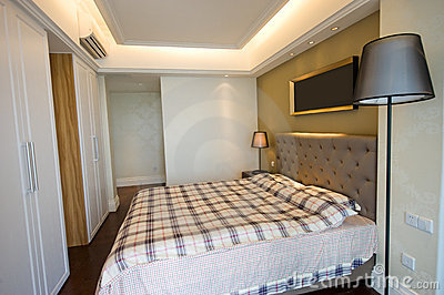 Moderne slaapkamer royalty vrije stock foto afbeelding 14040785 - Decoratie hoofdslaapkamer ...