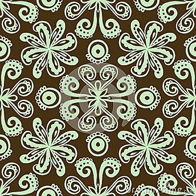 Moderne stylization van Indisch ornament
