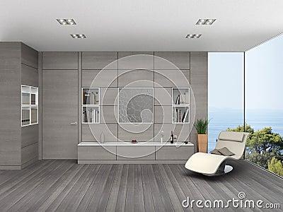 Moderne woonkamer met houten muurbekleding stock illustratie afbeelding 60043345 - Eigentijdse badkuip ...