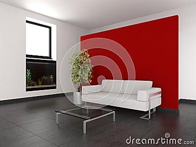 Woonkamer rode muur beste inspiratie voor interieur design en meubels idee n - Moderne betegelde vloer ...