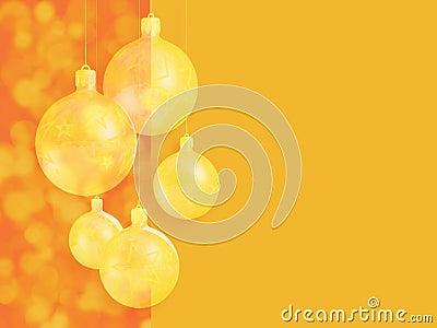 Moderner angeredeter warmer roter Weihnachtsdekor.