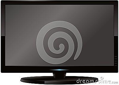 Moderner Flatscreen Fernsehapparat
