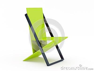 moderner gr ner stuhl stockfoto bild 21826600. Black Bedroom Furniture Sets. Home Design Ideas