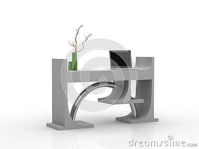 moderner schreibtisch mit laptop stockfoto bild 3574400. Black Bedroom Furniture Sets. Home Design Ideas