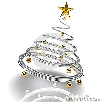 moderner weihnachtsbaum stockfotografie bild 7171632. Black Bedroom Furniture Sets. Home Design Ideas