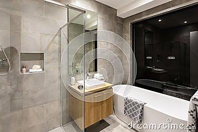 Modernes bad mit eckbadewanne und dusche  Dusche Modernes Badezimmer ~ Inspirierende Bilder von Wohnzimmer ...