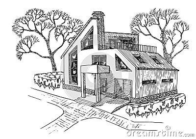Modernes haus mit garage dachboden und terrasse h uschen for Modernes haus terrasse
