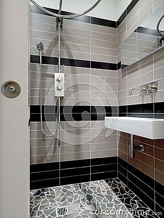 modernes kleines badezimmer stockfoto bild 17051120. Black Bedroom Furniture Sets. Home Design Ideas