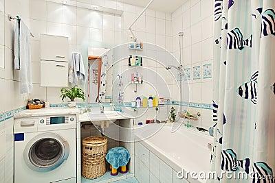 modernes blaues badezimmer lizenzfreies stockfoto - bild: 4757885, Hause ideen