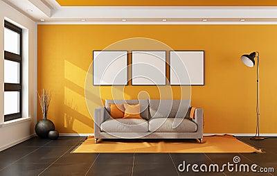 orange wand wohnzimmer ~ inspirierende bilder von wohnzimmer