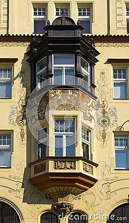Modernist balcony