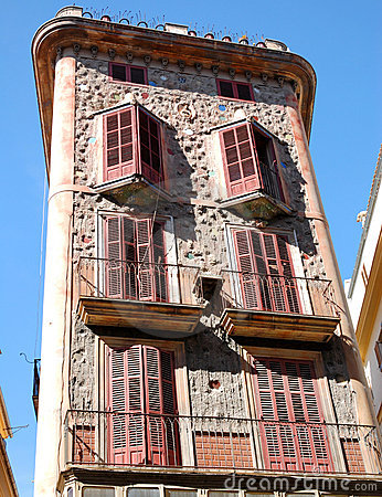 Modernist building in Palma de Majorca
