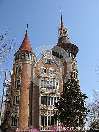 Modernist castle style house