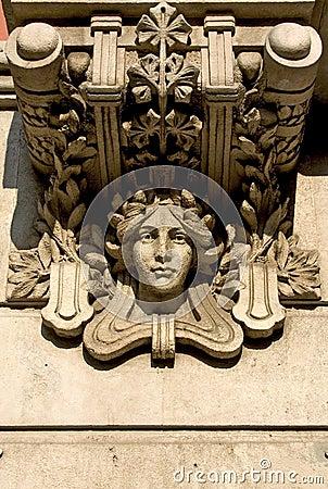 Modernist detail in Barcelona, Spain
