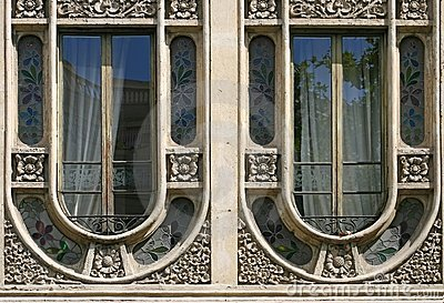 Modernist windows in Barcelona