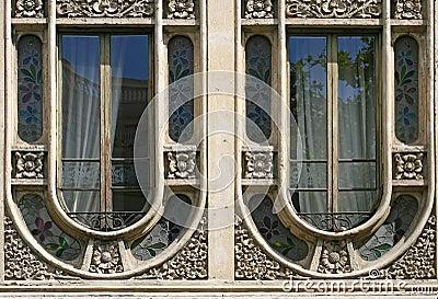 Modernist windows in Barcelona