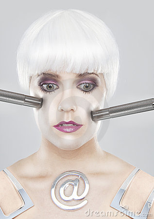 Modernistic woman portrait
