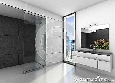 Badrum badrum modernt : Lyxig Badrum. Modernt Utforma Arkivbilder - Bild: 28850544