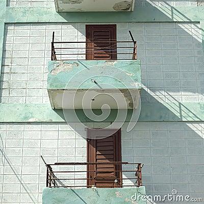 modest balconies stock photo image: 52117314