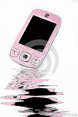 Modieuze cel-telefoon.