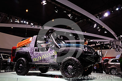 Modification of off-road vehicle Editorial Image