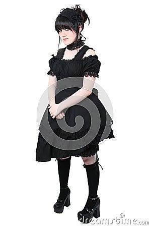 Modo Gotico Del Giapponese Di Gosurori Lolita Fotografia Stock ...