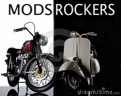 Mods rockers bike and vespa