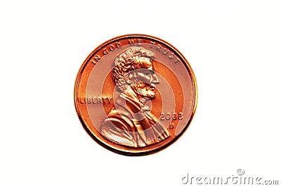 Moeda de um centavo americana