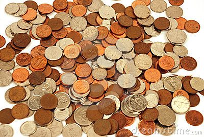 Moeda - dinheiro canadense Foto de Stock Editorial