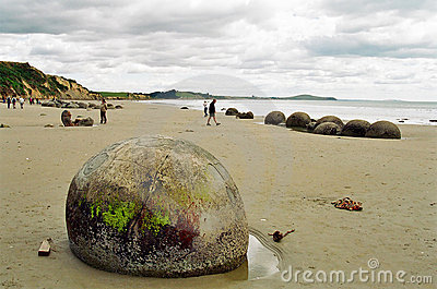 Moeraki Boulders, New Zealand Editorial Photography
