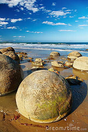 Free Moeraki Boulders, New Zealand Stock Photography - 8083772